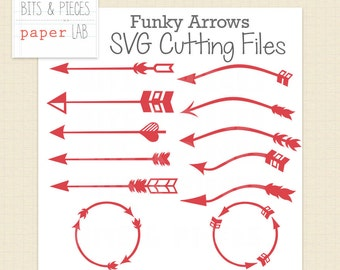 SVG Cutting Files: Funky Arrows SVG, Vinyl SVG