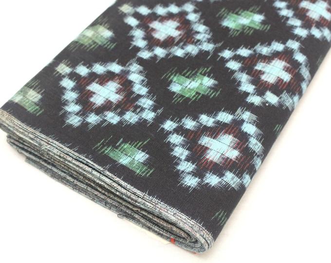 Japanese Vintage Kasuri Ikat. Woven Indigo Cotton Bolt. Traditional Folk Fabric. Bingo (Ref: 1688)