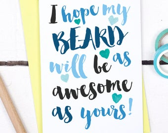Dad's Beard Card - Funny Father's Day Card for Dad - Birthday Card For Dad -Dad Card - Card for Dad - Funny card for dad - Dad Beard Joke