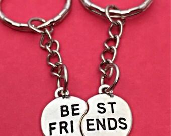 Best Friends Friendship Keychain Set For 2 BFF Keychains Set Of Two Best Friends Forever Keychain  2 best friends Gift  Best Friend BFF