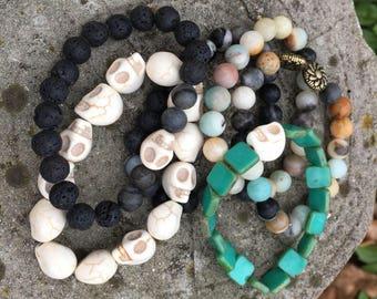 Boho Nature Bead Bracelets