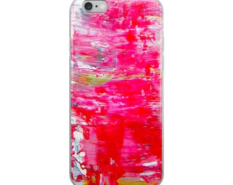 iPhone Case Red Marble Paint