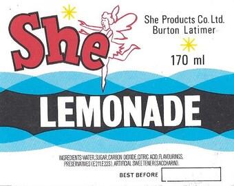 She Lemonade Vintage Label, 1940s