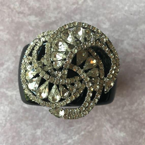 Diamonds and Rust Original Design Vintage Diamante Dimensional Design