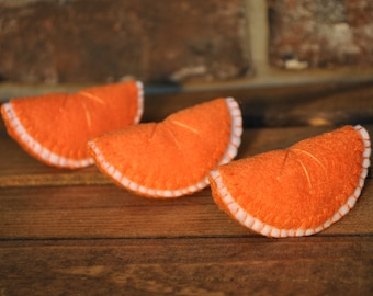 Felt Fruit - Orange Slices - Felt Food for Pretend Play
