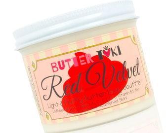 RED VELVET FROSTING New Body Butter Soufflé Sample Size 1oz - Body Lotion - Body Butter - Vegan - Paraben Free - Gluten Free