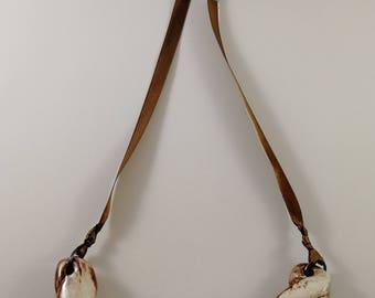 Ceramic necklace, brown necklace, chocolate necklace