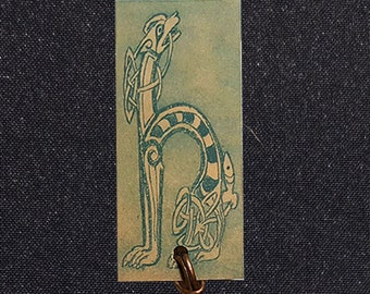 Celtic Zoomorphic Etched Bookmark - H Is Printed on Tan Etching Paper!