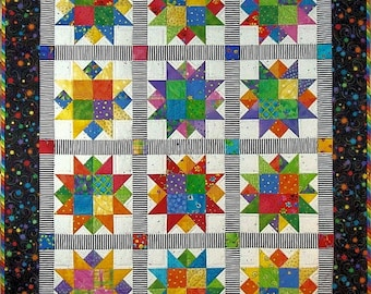 Star Power Quilt Pattern PDF #416e