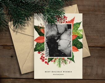 Printable Photo Christmas/Holiday Card (Custom)