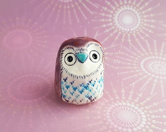 Mary the Owl Handmade Figurine