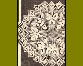 Vintage Crochet PATTERN 7119 Doily with Butterflies and Roses Three different Doilies Two sizes each PDF file emailed 2U instant download