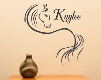 Custom Name Horse Ver 1... vinyl wall decal