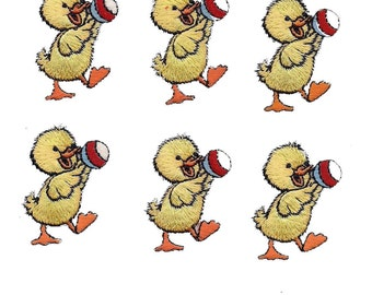 Duckling Yellow Ball Iron On Patch Applique 6 PC