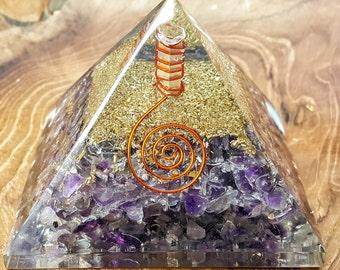 Amethyst Quartz Orgone Pyramid -  474