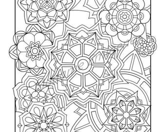 Flowers Coloring Page- PDF Instant Download