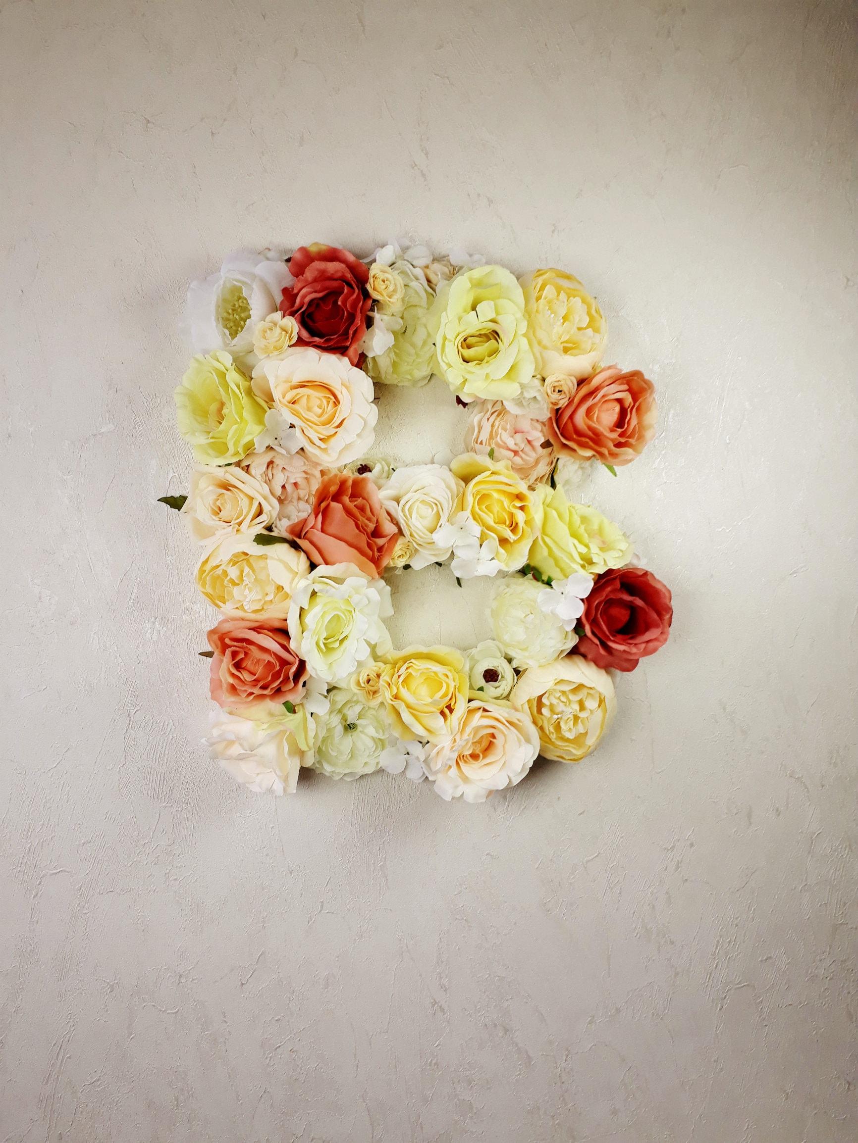 Nursery Letters Flower Letter Floral Monogram Nursery
