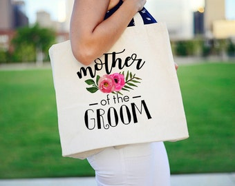 Mother of the Groom Tote, Wedding Tote for Mother of the Groom, MOG Wedding Tote, Mother of the Groom Canvas Tote, MOG Wedding GIft, Tote