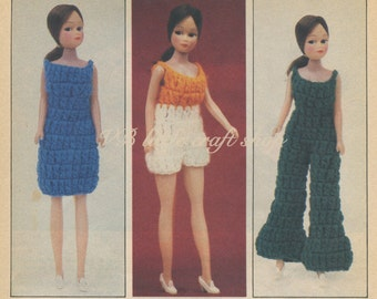 Doll's outfits crochet pattern.  Instant PDF download!