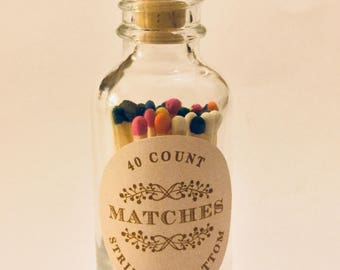 Matches Jar Bottle For your candles