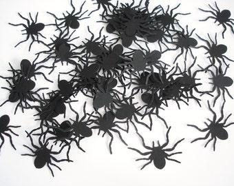 25 Black Tarantula Spider Confetti - Halloween Party Decorations - No651