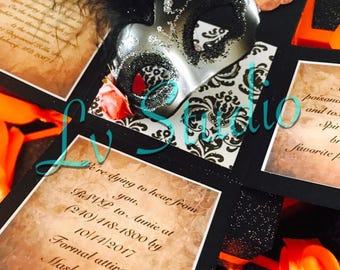 1 Masquerade Exploding Box Invitations