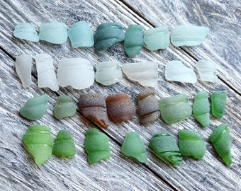 Bulk Sea glass bottles rims Vintage sea glass Beach jewelry supply Art or craft supply Curved sea glass set Bulk beach glass Sea glass decor