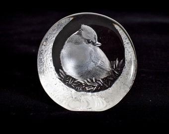 Swedish Art Glass Sculpture/Paperweight - Mats Jonasson
