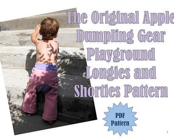 INSTANT DOWNLOAD Playground Longies and Shorties PDF Pattern by Apple Dumpling Gear