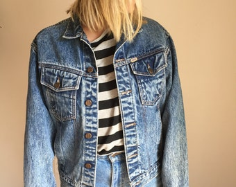 Vintage jean jacket, acid wash