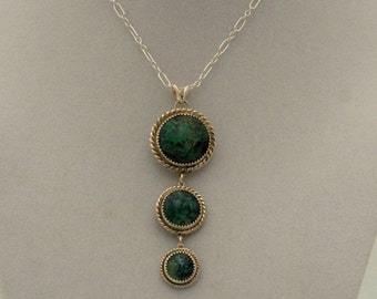Natural Turquoise Necklace of 3 Rounds