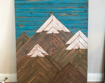 Large Wood Mountain Scape
