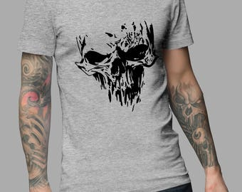 Skull Tattoo Shirt #R