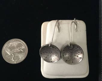 Vintage Sterling Silver Dome Earrings - AB
