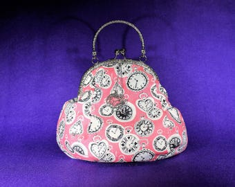 Alice in Wonderland handbag / Alice handbag / kiss lock handbag