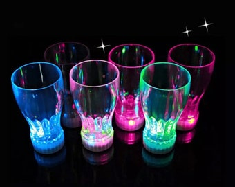 12oz Glow Cups, Glowing Party Glasses, Glow Cups, LED Cups, LED Glow Cups, Glow Party 3 modes LED Light Up Cups