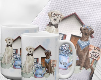 Personalized Labradors Housewarming Gift | New home Gift | Housewarming Party | Dog Lover Gift Set | Hostess Gift | Wedding Gift | Kitchen