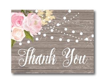 PRINTABLE Thank You Card, Printable Wedding Thank You Card, Wedding Thank You, Thank You Card, Thank You, Wedding Card, Thanks Card #CL138