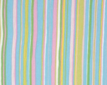 Dena Designs, Tiddlywinks, Stripe in Blue, LAST 30 Inches