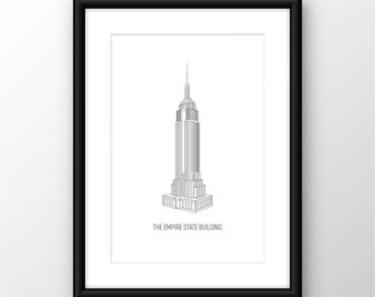 New York City, Empire State Building Digital Print