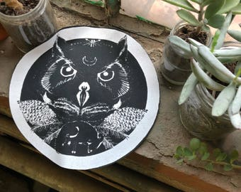 Owl // Familiar // Backpatch for Witches & Punks