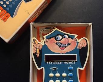 Vintage 1970's Sears children's calculator Professor Mathics