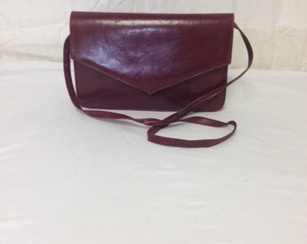 Red Leather Purse, Caressa Spain,bag,purse, Shoulder Bag