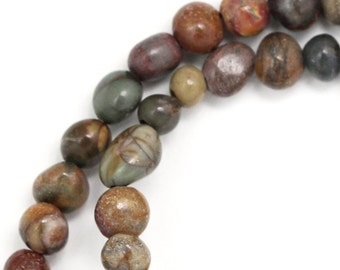 Red Creek Jasper Beads - Tiny Pebbles