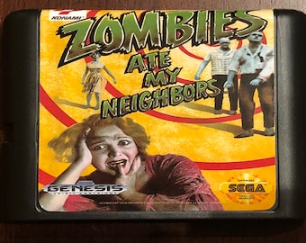 Zombies Ate My Neighbors Fan Made Custom Sega Genesis Game. 16bit