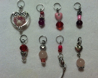 Stitch Markers - The LIGHT SIDE of LOVE