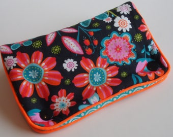 Multicolored travel jewelry case/pouch