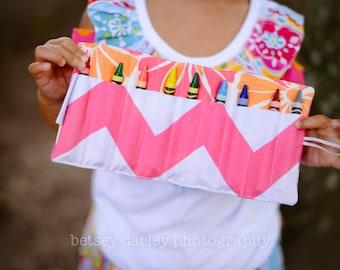 Little girls crayon roll-up.