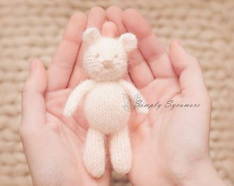 Knitting Pattern Bear Tiny - Knit Tiny Teddy Bear - INSTANT DOWNLOAD