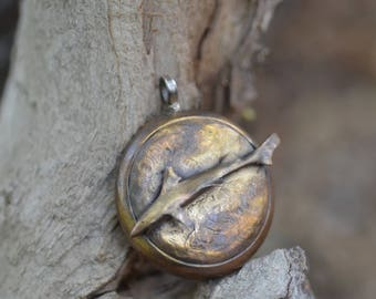 Swimming Shark Pendant w/ Sterling Silver Ring By Robert Burkett / Lost Wax Casting / SteamPunk / Bob Burkett Designs / Shark Week / Aquatic